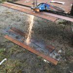 Skärning av slitstål till vår nya skopa